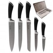 Nóż / noże kuchenne stalowe 5el MOTION zestaw noży