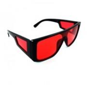 ISK Rectangular, Clubmaster Sunglasses(Red)