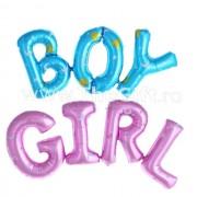 Balon folie maxi, cuvintele Boy sau Girl