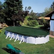 Summer Fun talvine basseinikate, ovaalne, 800 cm, PVC, roheline