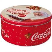 Cutie de depozitare metalica - Coca Cola - Mos Craciun - Holidays