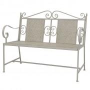 vidaXL Градинска пейка, 115 см, стомана, сива