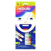 Tempera készlet, 12 darabos, NEBULO (RNEBT12)