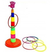 Plastic Mini Series Ring Quoits Throw Game Kids Toy