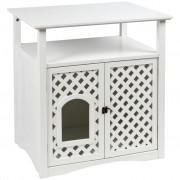 Kerbl Mačacia toaleta v skrinke Helena, 64x46x65 cm, biela, 82662