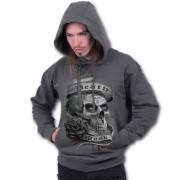 kapucnis pulóver férfi - Death Mask - SPIRAL - E019M463