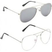 Magjons Aviator Sunglasses(Clear)