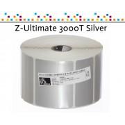 Zebra Z-Ultimate 3000T Silver - Etichette in poliestere di colore argento, formato 100 x 120 mm.
