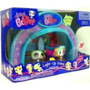 Littlest Pet Shop Exclusive Playset Light Up Dome Shopping Mall Panda & Dog