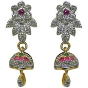 Pourni exclusive Designer American Diamond Jhumka Earring -PRER120