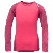 Devold - Breeze Kid Shirt - Merino ondergoed maat 8 years roze/rood