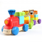 Trenuleţ din lemn cu animăluţe - Discovery Train™