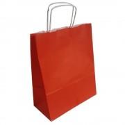 Pungi Cadou cu Model Rosu 25x10x30 cm, 100 Buc/Bax, Sacose si Plase din Hartie
