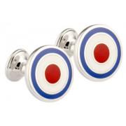 Mousie Bean Enamelled Cufflinks Target 039 RAF