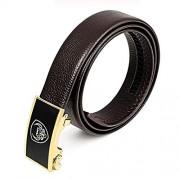 CVBF Cinturón casual para hombre Los hombres ocasionales del cuero genuino pretina de la correa, longitud: 125 cm (Negro) (dos colores) (Color : Brown)