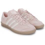 Adidas Originals HAMBURG W Sneakers(Pink, White)