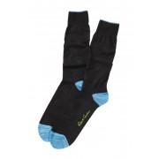 Robert Graham Jacko Tonal Pattern Crew Socks CHARCOAL