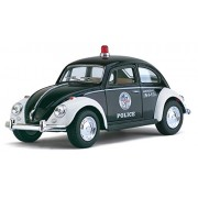 Kinsmart 1:32 Scale Die-Cast 1967 Volkswagen Classical Police Beetle with Openable Doors and Pull Back Action (Multicolour)