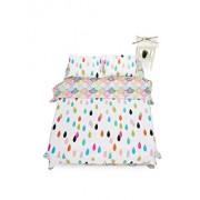 Lenjerie de pat pentru 2 persoane Heinner Home, bumbac, 4 piese, 144 TC, HR-KGBED144-CLR, Multicolor
