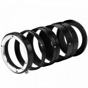 Walimex Pro Set de Tubos Extensores de Fotografía Macro para Canon