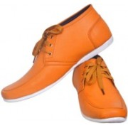 Sam Stefy Broad Shaped Casual Shoes For Men(Tan)