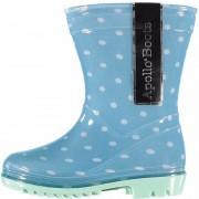 Apollo Meisjes regenlaarsjes blauw met stippen 25 - Regenlaarzen