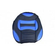 Set huse auto ALM fractionate material textil combinat cu piele ecologica 11 piese culoare Albastru