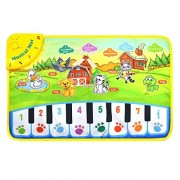 AMGLOBAL Musical Singing Carpet, Children Durable Piano Mat, Educational Music Keyboard, Colorful Animal Sound Baby Play Keyboard for Kids for Fun