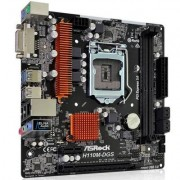 Дънна платка asrock main board desktop h110 (s1151, 2xddr4,1xpci e 3.0 x16,1xpci e 2.0x1, sata iii ,glan,dvd-d, usb3.0), h110m-dgs_r3.0_3y