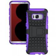 Samsung Galaxy S8 Plus Heavy Duty Hybrid Kickstand Defender Smart Case - Purple