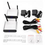 CiCiglow Transmisor y Receptor inalámbrico de Video y Audio de 5.8GHz Transmisor y Receptor de 8 Grupos de Canales para transmisión de Cable, satélite, DVD a TV de Forma inalámbrica(Nosotros)