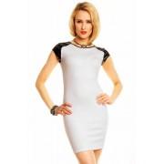 Dámské šaty Flam Mode bílo-černé