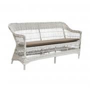Sika-Design Rottingsoffa charlot 3-sits vintage white, sika-design