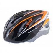 KACIGA biciklistička FORCE crno-narandžasta (HAL L/XL crno narandžasta)