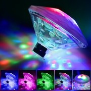 Bath Toys, Lights For The Tub(7 Lighting Modes), Alrigon Bathtub Led Light Toys Waterproof Colorful Floating Swimming Pool Party Bathroom Pond Spa