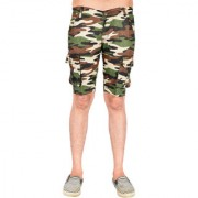 Waiverson Men Army Print Shorts with 6 Pockets Camouflage Cargo for Men Boys