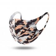 Andningsskydd / Ansiktsmask I Tyg Camouflage Tvättbart (Färg: Orange Camouflage)