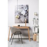 Zuiver Verstelbare Hanglamp Gringo Flat 1-LichtsØ22.5 X H12 Cm - Wit