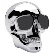 Jarre AeroSkull XS + Bluetooth Speaker - Chrome Silver