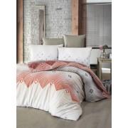 Lenjerie de pat din bumbac Valentini Bianco VKR10 Adriana Terra