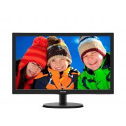 "Philips V-line 223V5LSB2 - Monitor LED - 21.5"" - 1920 x 1080 Full HD (1080p) - 200 cd/m² - 600:1 - 5 ms - VGA - preto texturiza"