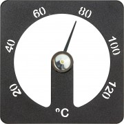 Demerx Bastutermometer Cozmic Fyrkantig Aluminium Svart