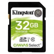 Cartão de Memória SDHC Kingston Canvas Select UHS-I SDS/32GB - 32GB