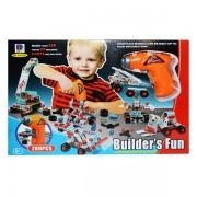 Joc educativ de construit pentru copii, bormasina cu 280 piese