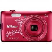 Digitalna kamera A-300 Nikon 20.1 mil. piksela optički zoom: 8 x crvena WiFi, Bluetooth