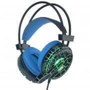ER H6 El Patrón Agrietado Video Juego De Auriculares Con Micrófono Super Bass Luz LED Para PC Phone -Negro