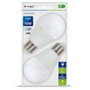 V-TAC E27 11W 1055lm 2700K LED-izzó 2db/csomag