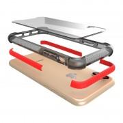 Apple iPhone X schokbestendig hybride TPU + kunststof beschermend back cover Hoesje Wit