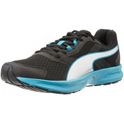 Puma Men's Descendant v3 DP Black, Atomic Blue and Puma Silver Running Shoes - 9 UK/India (43 EU)