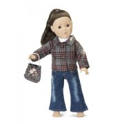 """Plaid Jacket & Jeans Outfit - 18 Inch Doll Clothes/clothing Fits American Girl and Other 18"""" Dolls - Includes Acccesories"""
